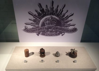 World War I grenades and fuses in the Recent Acquisitions Showcase