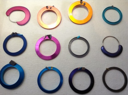 Parts of jewellery made by Johannes Kuhnen, Canberra,