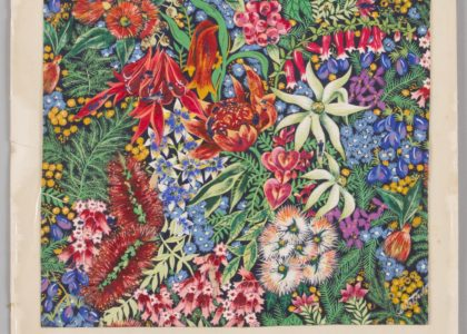 Floral design, gouache on paper by Shirley de Vocht 2002/88/1-5/2