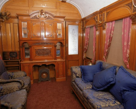 Photograph of the Observation Room of the Governor-General's carriage
