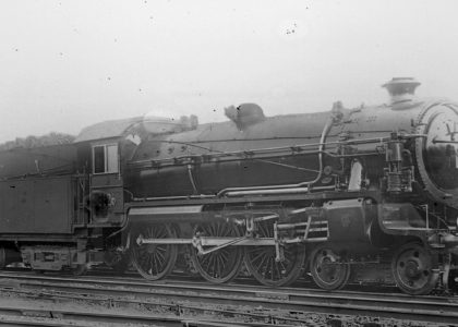 Photograph of steam locomotive 3626 built in 1925 by the Clyde Engineering Co. Ltd, Granville, NSW. Photograph was the gift of Clyde Engineering Co. Ltd, 1988.