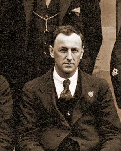 Charles Laseron among staff at the Technological Museum, Sydney, 1919, MAAS Collection