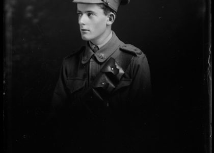 Solider Portrait of Robert Millikin, photographer unknown, 1914 - 18, MAAS Collection (the Tyrell Collection)
