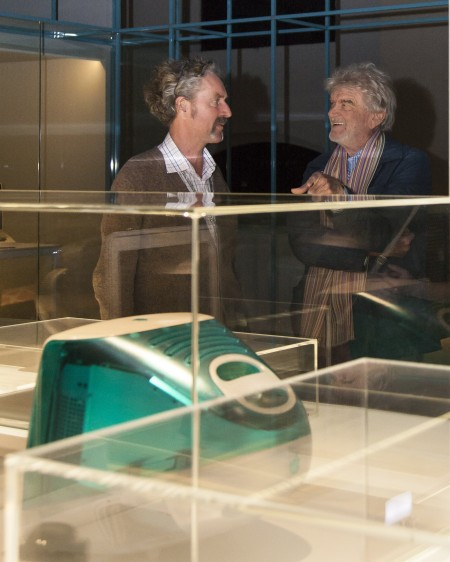 Hartmut Esslinger (right) and curator Campbell Bickerstaff in the INTERFACE exhibition.