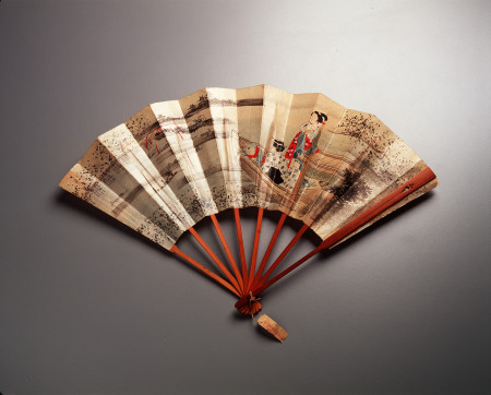 Photo of an unfurled fan, Japan, 1880s, MAAS collection