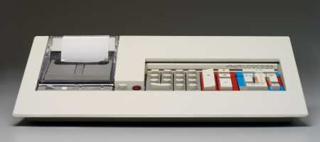 Olivetti Logos 55 desk top calculator, designed by Mario Bellini, 1974, Italy, MAAS collection, 97/174/2-5