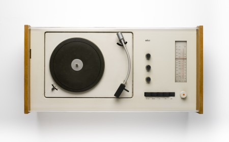 Braun SK55 Phonosuper radio & record player combination design by Hans Gugelot (with the assistance of students from the Hfg school of design, Ulm), 1963, West Germany, MAAS collection, 85/2326