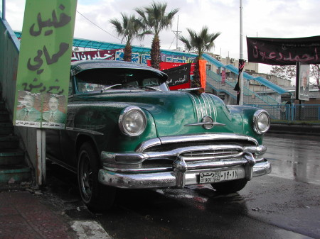 Early 1950s Oldsmobile, Damascus near Bab Sharqi, March 2003, photo by Paul Donnelly