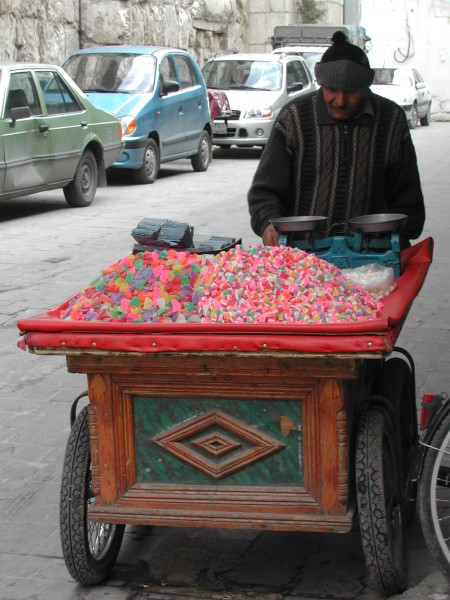 Sugar-hit, Old City, Damascus, 2003, photographer Paul Donnelly