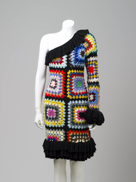 Crochet dress, designed and made by Anna Plunkett and Luke Sales of Romance Was Born, Sydney, 2009, MAAS collection, 2010/20/2