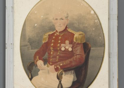 Portrait of Jonathan Croft, Deputy Purveyor of Sydney (Rum) Hospital, 1836, hand coloured photograph, artist unknown, Australia, 1850-1855, MAAS collection, 2008/141/1