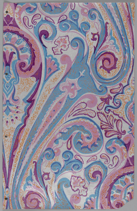 'Large Paisley' wallpaper sample made by Florence Broadhurst Wallpapers, Sydney, 1969-1977, MAAS collection