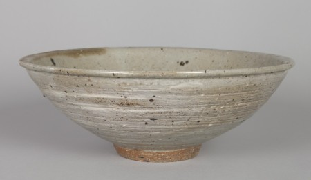 Stoneware bowl made by Peter Rushforth, Sydney, NSW, c.1964. Gift of Garry Anderson, 1991. 92/1555