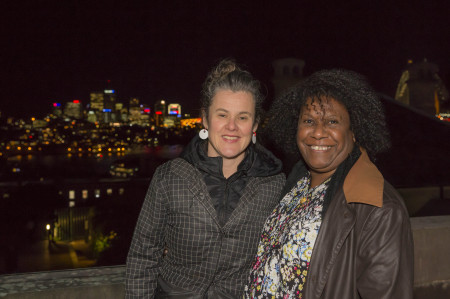 MAAS Director, Rose Hiscock with Eddie Mabo's granddaughter, Gail Mabo, at the Sydney Observatory. Photograph by Jayne Ion.