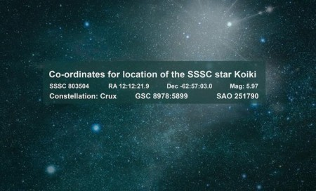Coordinates for the star named after Eddie Mabo