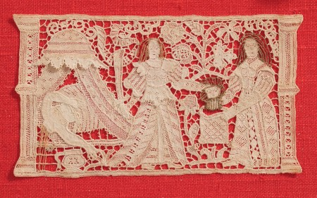 Lace panel showing the story of Judith and Holofernes