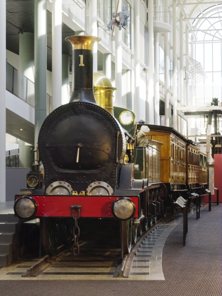Locomotive No.1 on display in the Powerhouse Museum