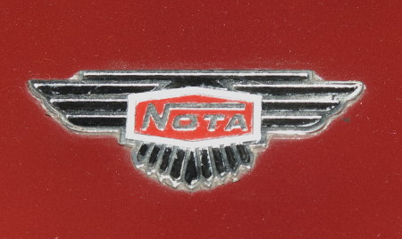 Badge on the bonnet of the Museum's 'Fang'