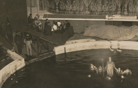 Photograph of Wirth's Circus ring at the Hippodrome enlarged section of King Neptune