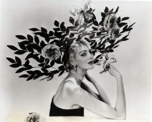 Photograph of Carmen Dell'Orefice modelling Overheard in an Orchard