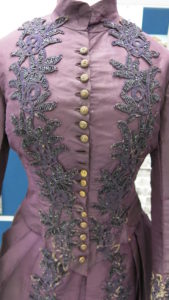 Janet McDonald Wedding Gown Bodice showing missing buttons