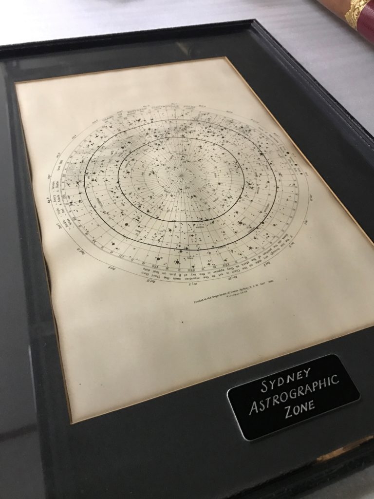 Star map showing Sydney Astrographic Zone