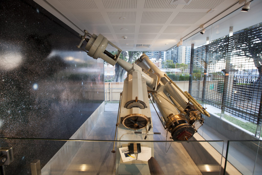 The Melbourne Astrographic telescope on display at Sydney Observatory