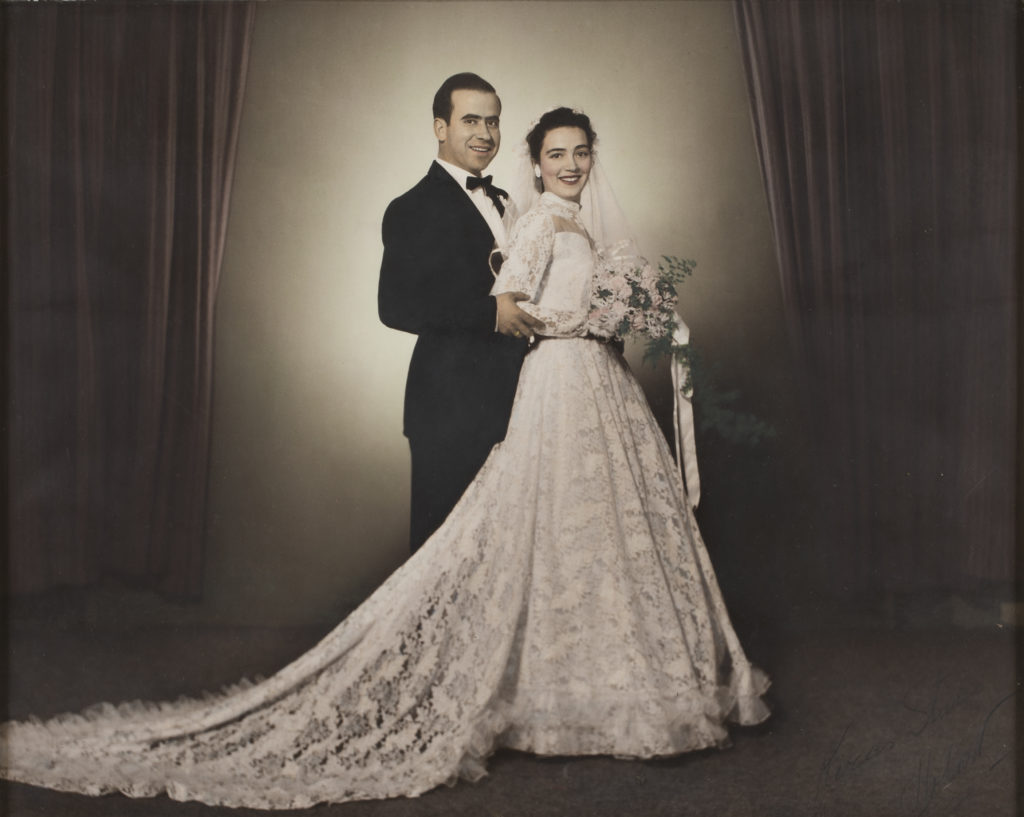 Photograph, Wedding portrait of Fiona (Fanni) Macris and Basilios Minas
