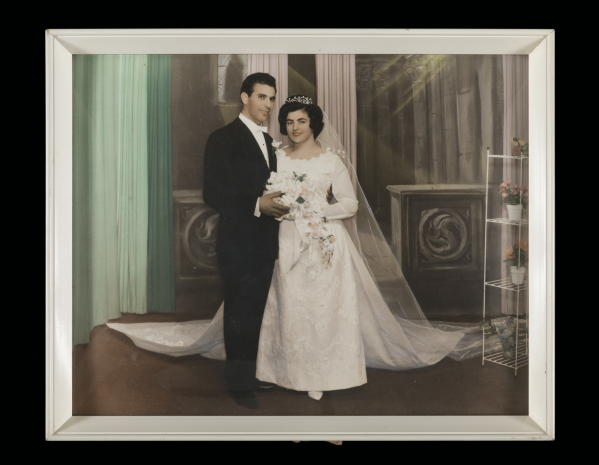 Photograph, Wedding portrait of Stamatoula Raissis and George Pavlakis
