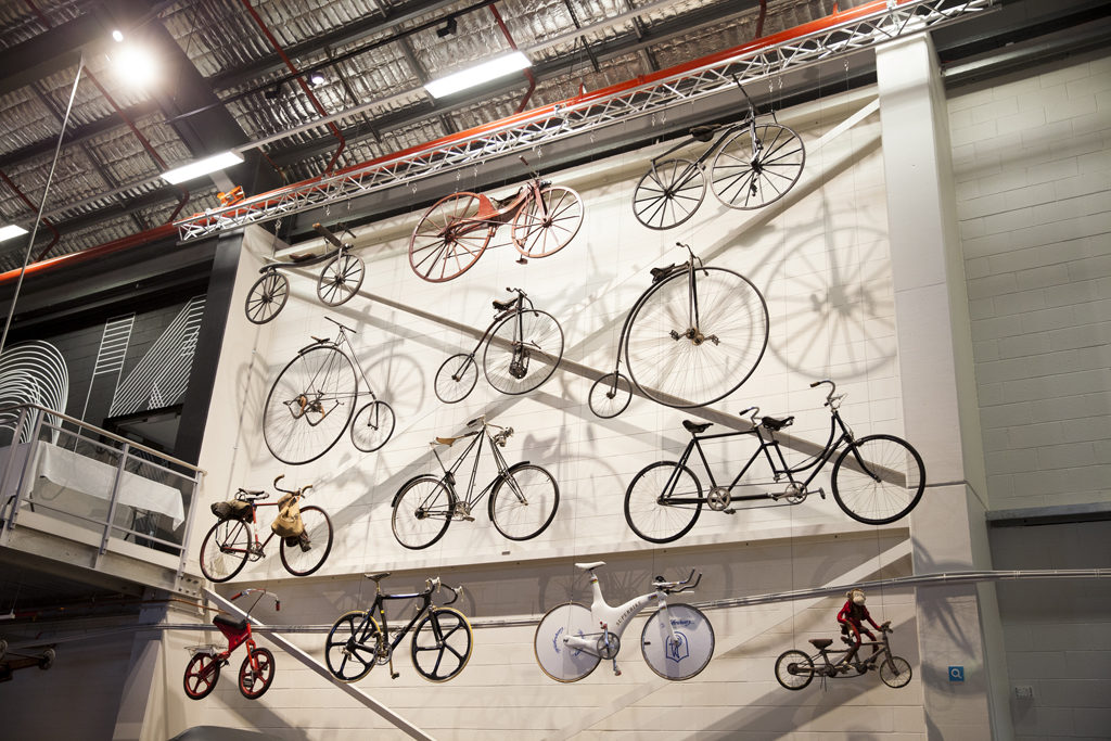 Wall of bikes, Museums' Discovery Centre, Castle Hill