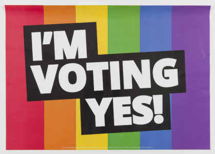 'I'm Voting Yes' poster, Unions NSW, 2017