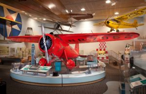 Amelia's trans-Atlantic Lockheed Vega on display at the National Air and Space Museum, Smithsonian Institution
