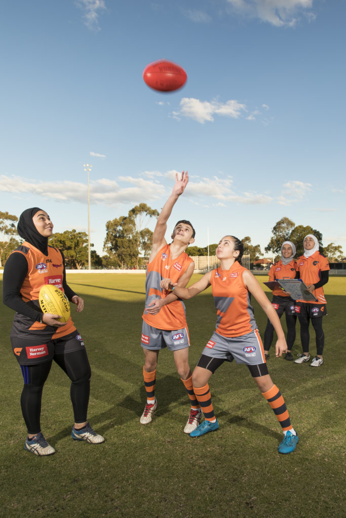 Auburn Giants AFL team training