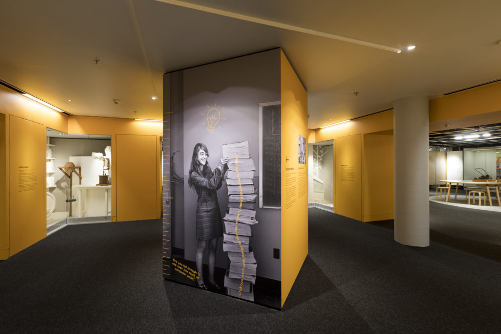 Photograph of Margaret Hamilton installation view