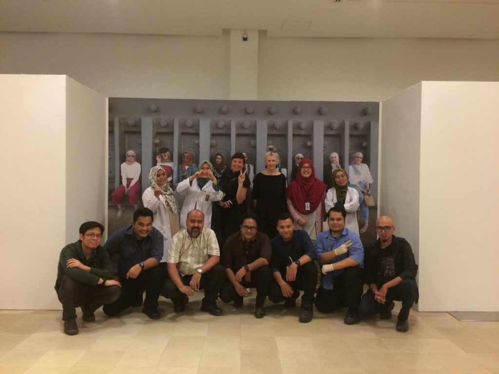 Photograph of the team at the Islamic Arts Museum Malaysia