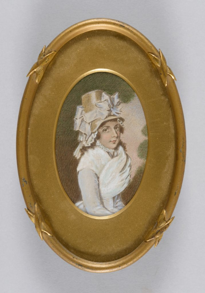 Portrait miniature of Elizabeth Marsden in her wedding dress