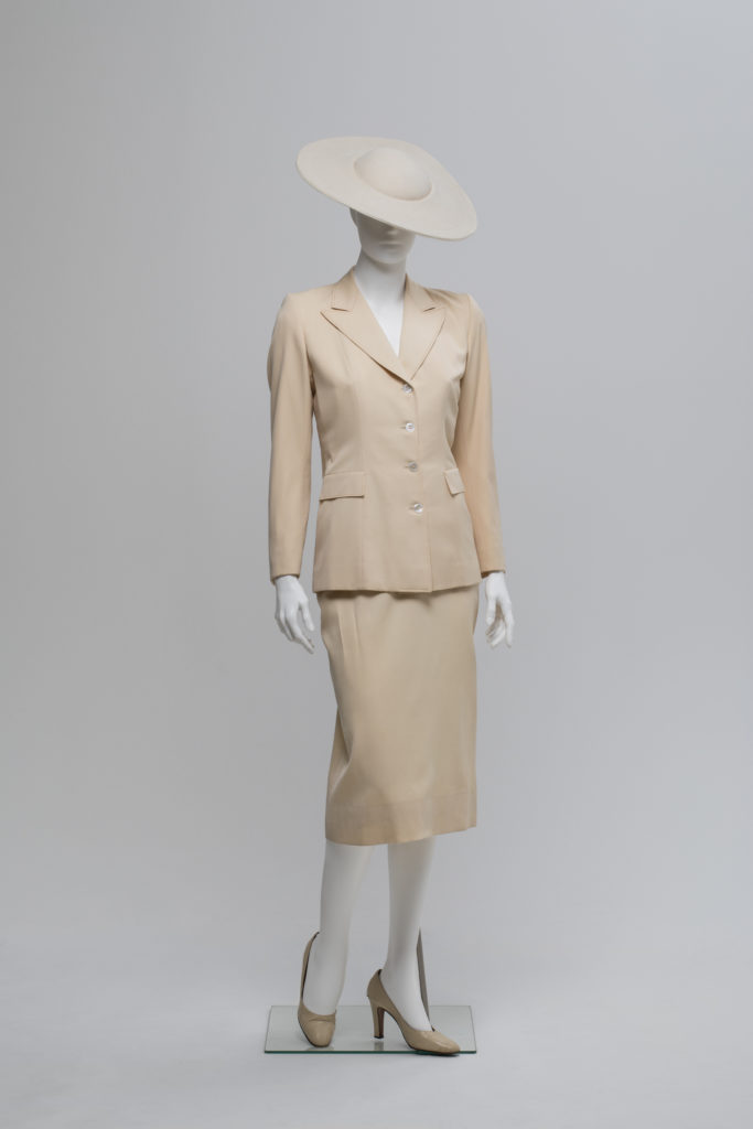 Skirt suit designed by Robert Burton