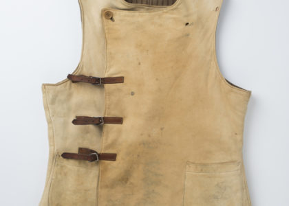 Front view of men's vest