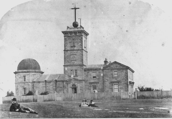 The south facade of Sydney Observatory in 1860.