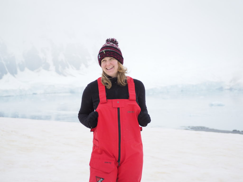 Photograph of Nina Earl on the Antarctic Peninsula