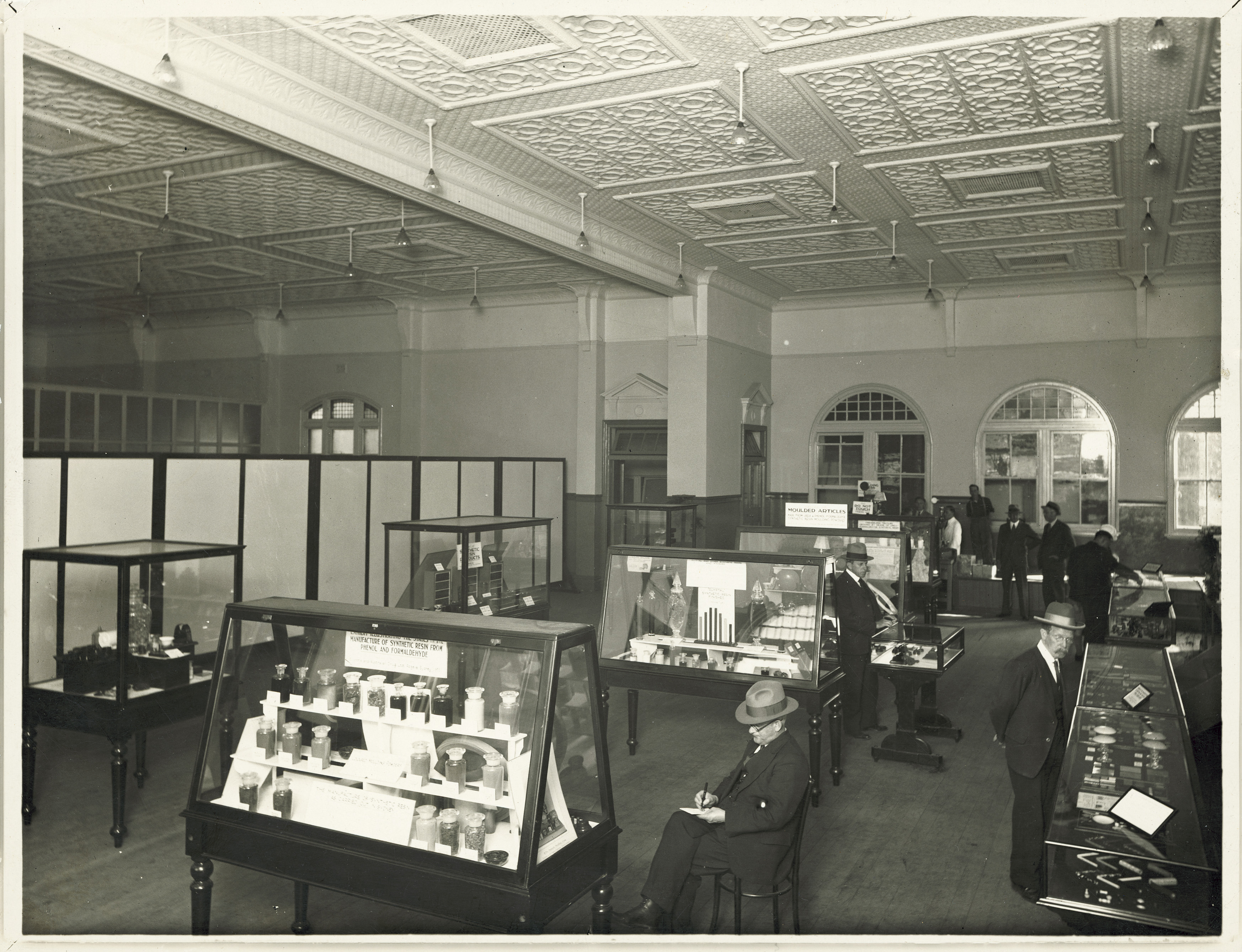 First exhibition of plastics in Australia, Turner Hall, Sydney Technical College 1934 [MAAS Collection]