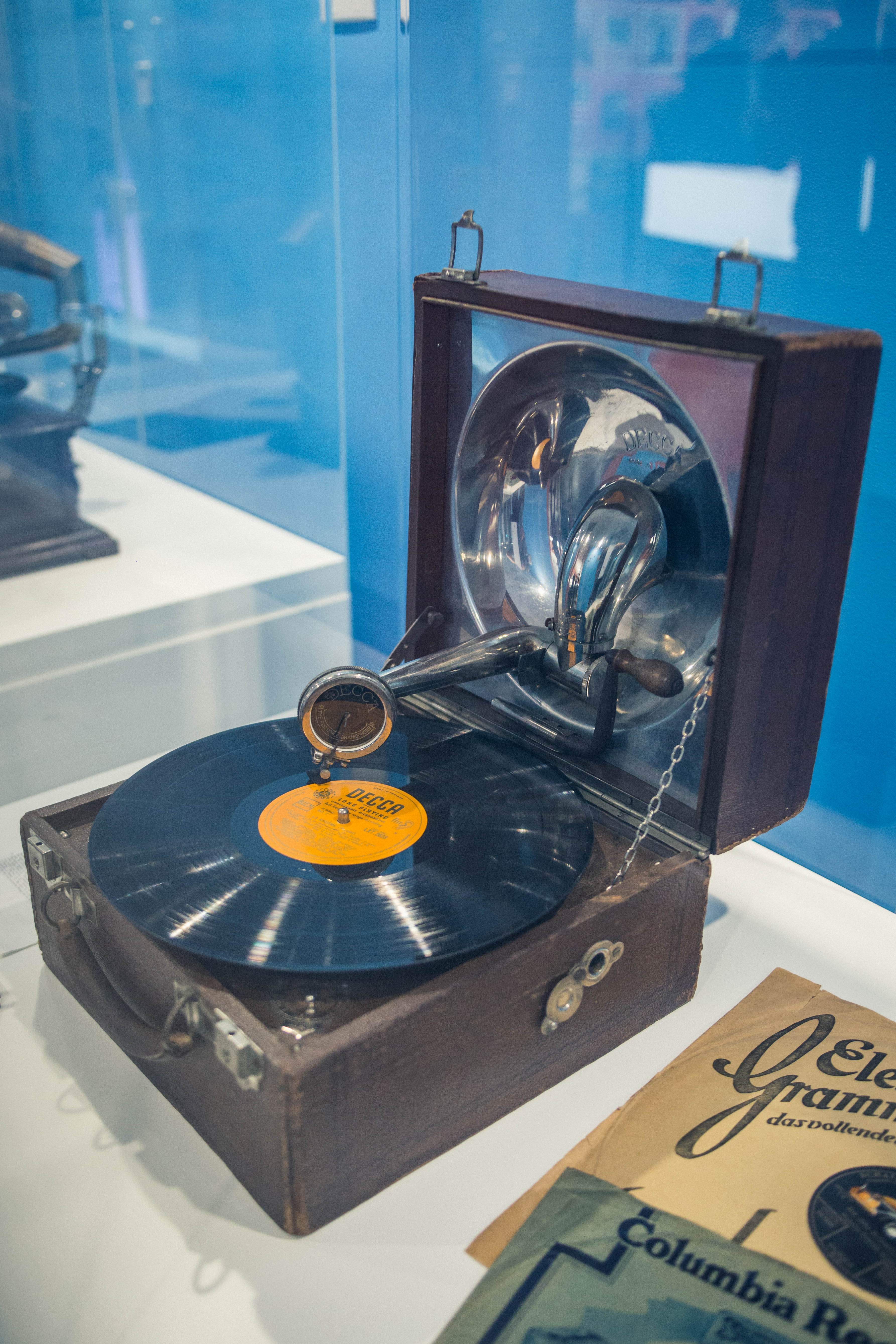 Decca gramophone patented by the Samuels family, London, England c 1921